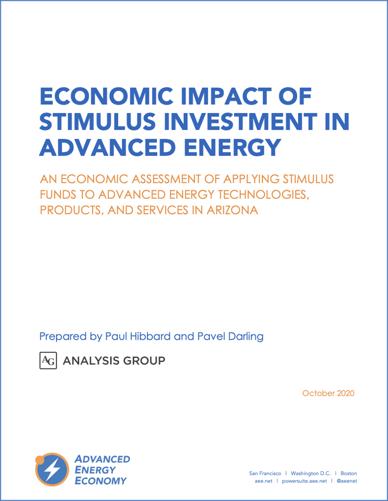 Econ Impact of Stimulus in Advanced Energy AZ