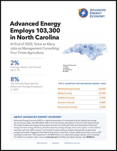 NC 2021 Job Report Cover